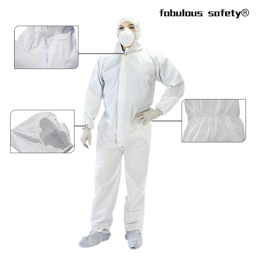 Disposable Coverall Medical Isolation Clothing details